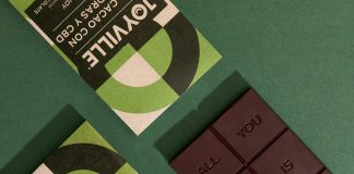 Joyville chocolate brand identity and packaging design by Parámetro Studio.