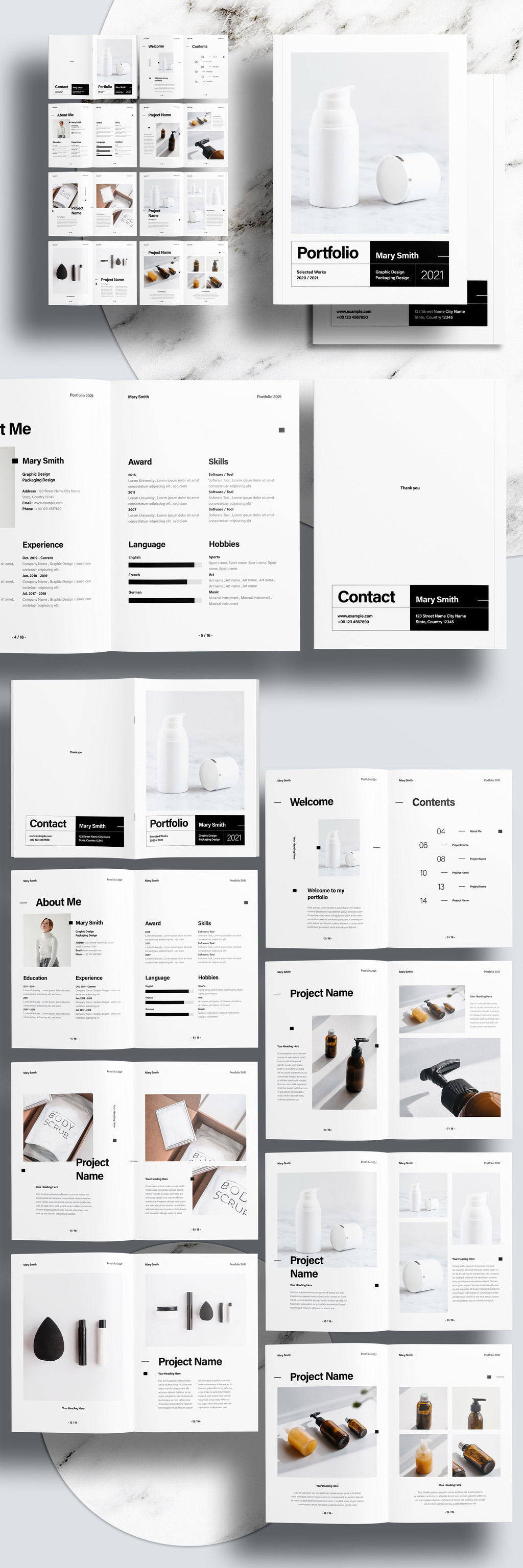 Modern Portfolio Template for Adobe InDesign