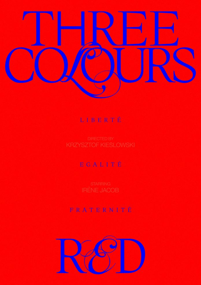 Three Colours: Red, movie poster design by Panos Tsironis