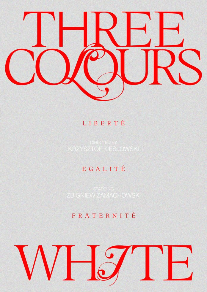 Three Colours: White, movie poster design by Panos Tsironis