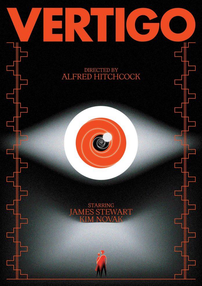 Vertigo, movie poster design by Panos Tsironis