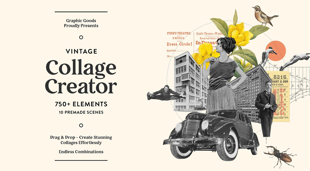 Vintage Collage Creator by Graphic Goods