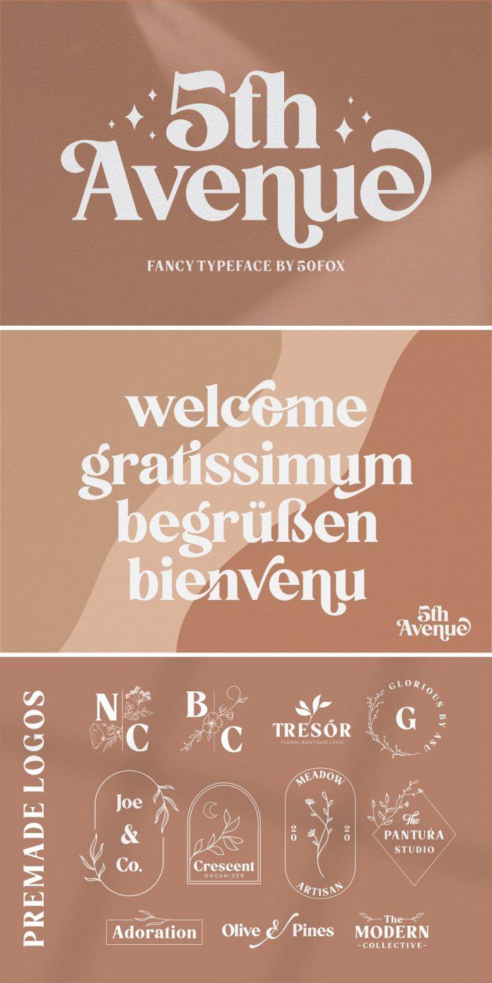 5th Avenue Font by 50Fox