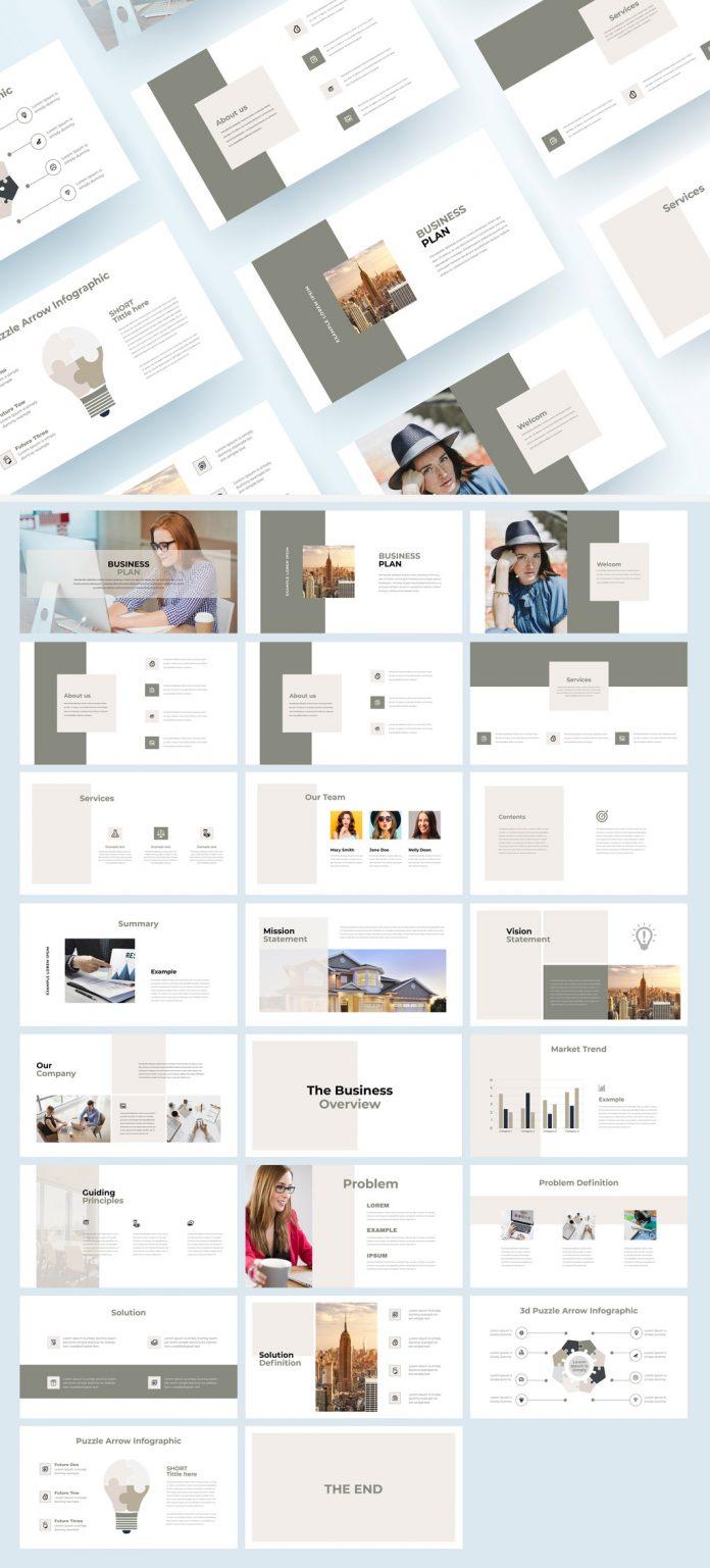 Business Plan Presentation Template by PixWork