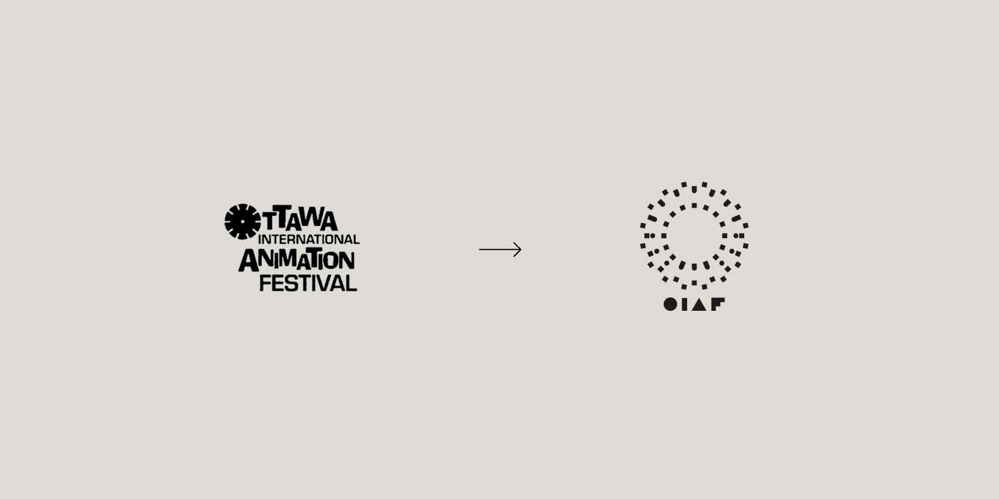 Logo design by Michael George Haddad for the Ottawa International Animation Festival.