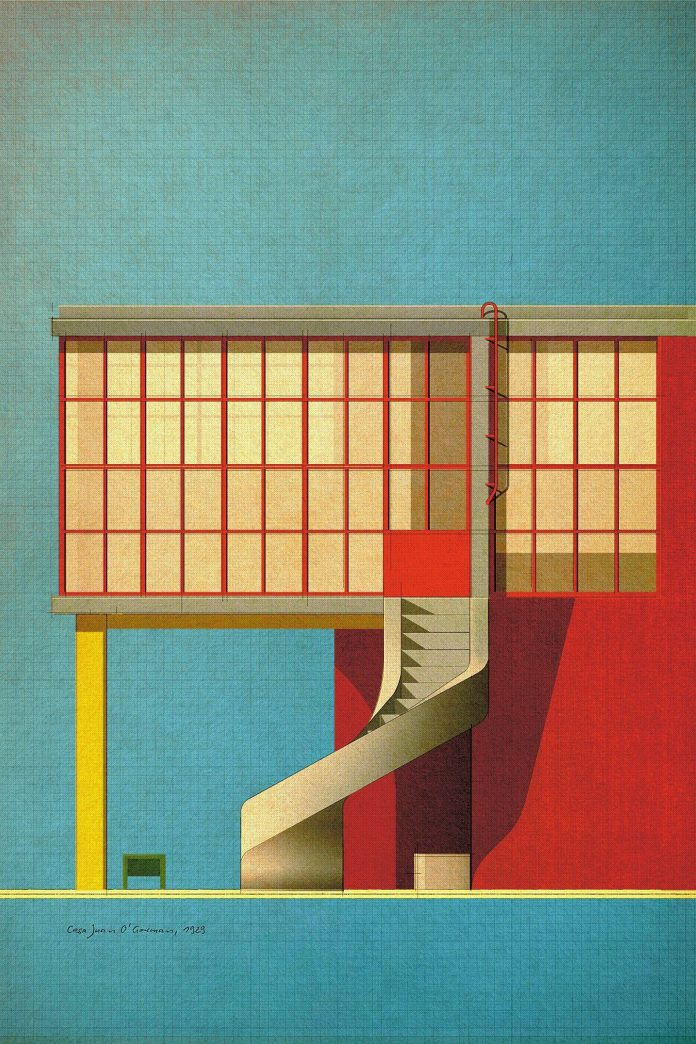 Casa Juan O'Gorman, 1929 - Poster Art by Studio Sander Patelski