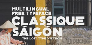 Classique Saigon Typeface by ZinArtwork.