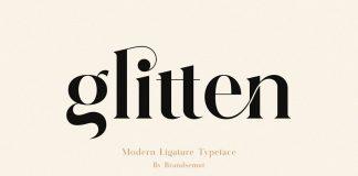 Glitten Ligature Serif Font by BrandSemut.