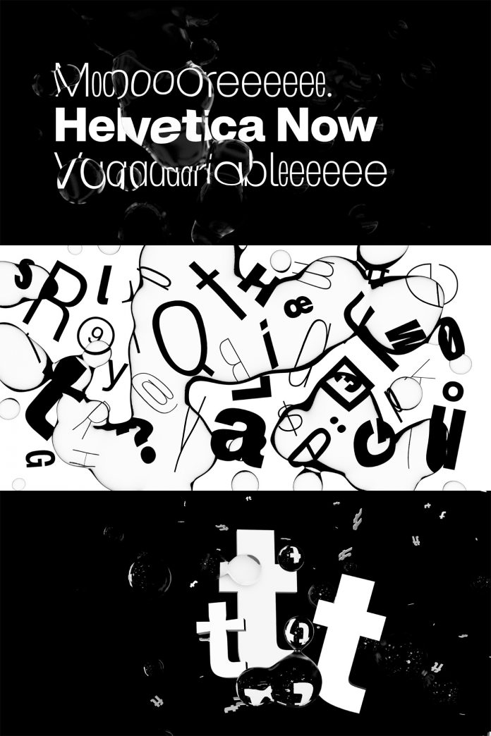 Helvetica Now Variable Font from Monotype