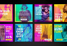 Instagram Post and Story Templates for Adobe Photoshop.