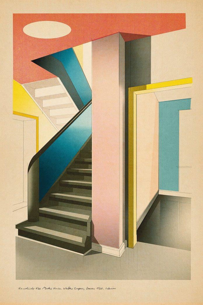 Kandinsky Klee Master House. Walter Gropius, Dessau 1926 - Poster Art by Studio Sander Patelski