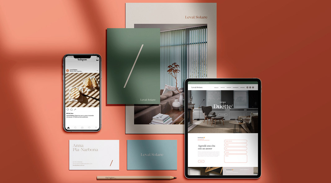 Leval Solare brand and web design by Bunker3022.