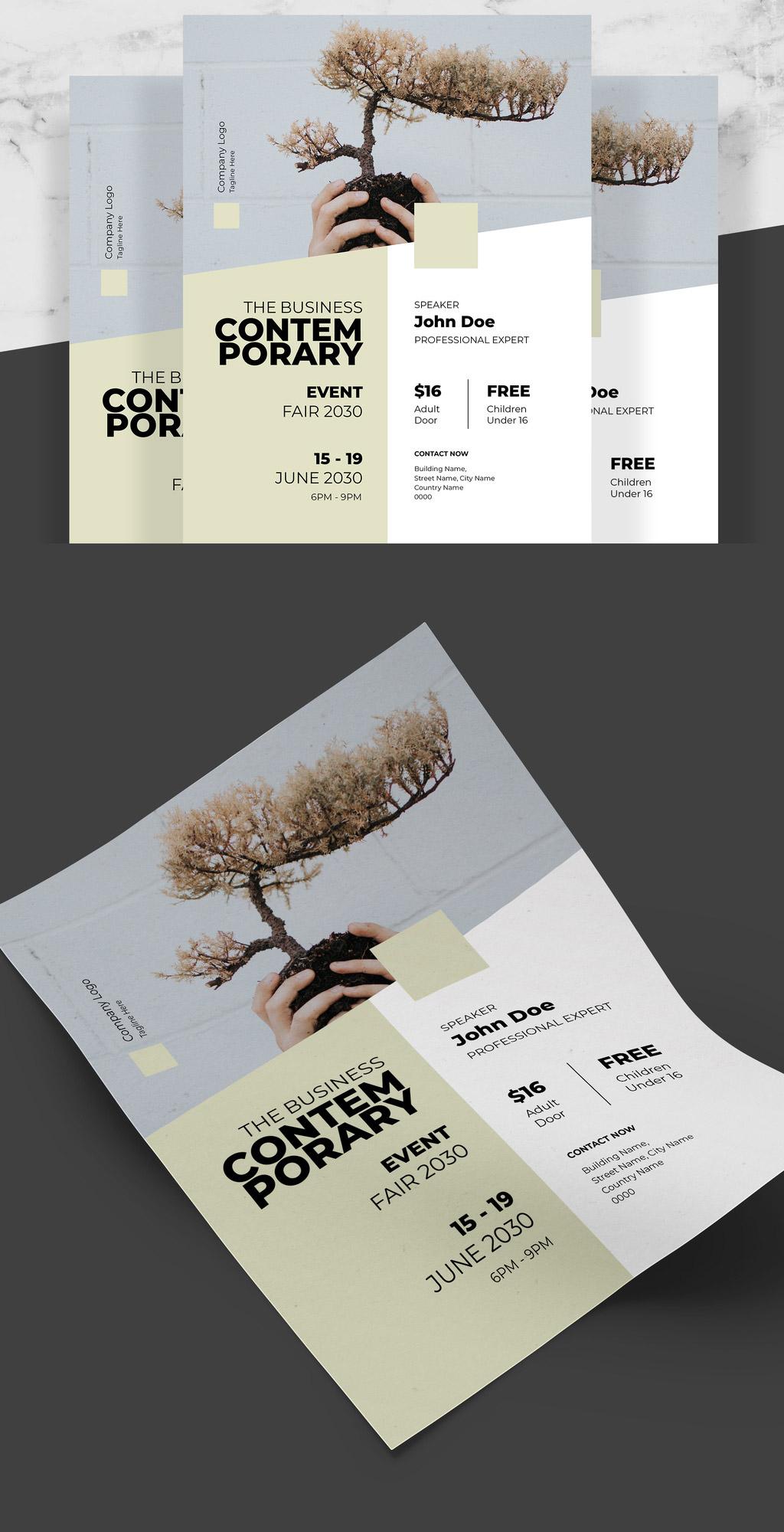 Minimal Business Flyer for Adobe InDesign