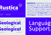 Rustica font family by TipoType