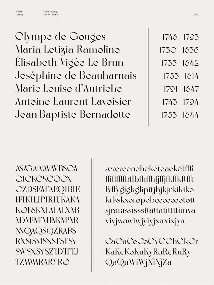 1769 font by Almarena
