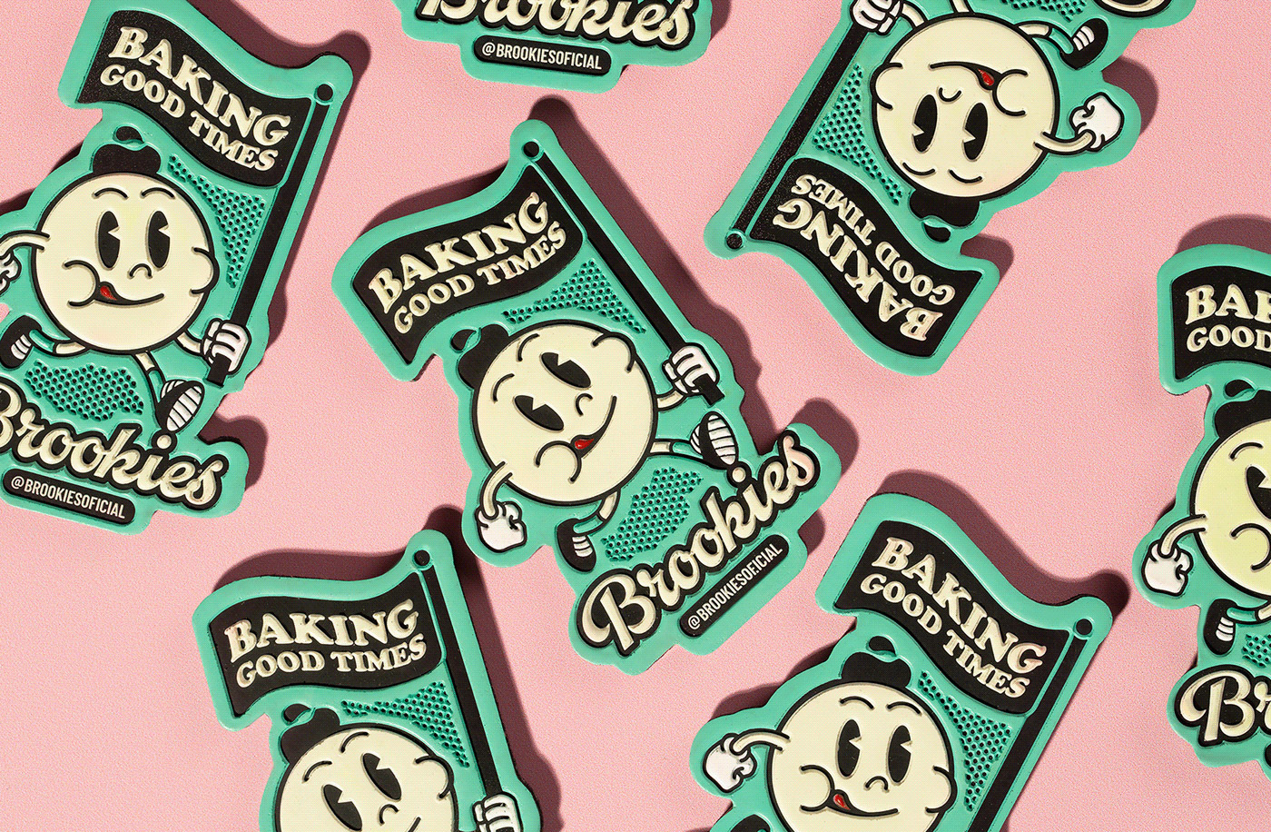 Brand and packaging design by Blank Design Studio for Brookies Cookies & Co.