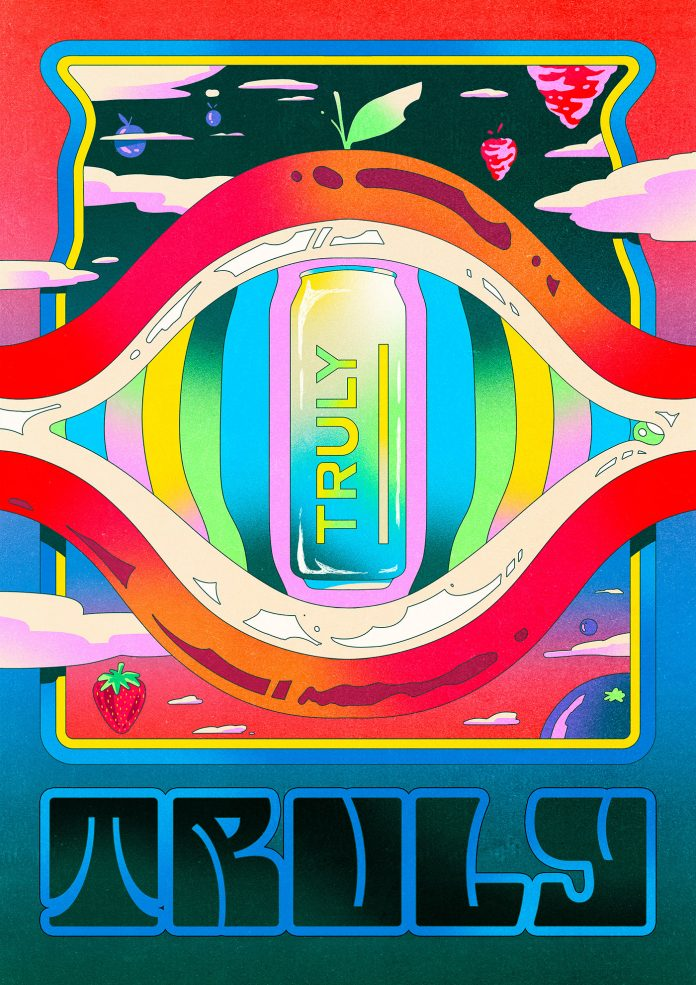 Poster illustration by Nahuel Bardi for Truly.