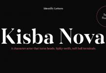 Kisba Nova font family by Identity Letters.