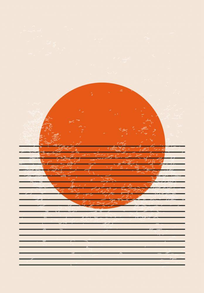 Minimal geometric poster artwork