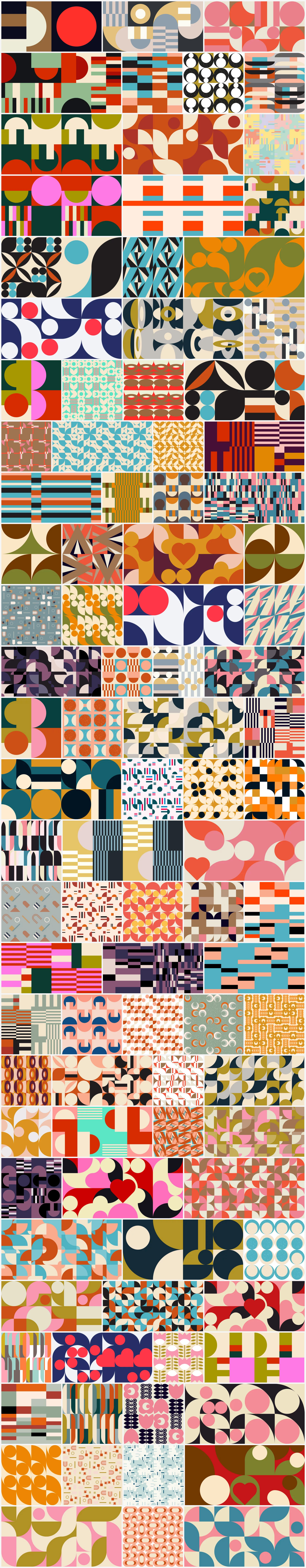 Modern, geometric vector background patterns for your graphic design projects.