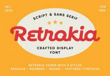 Retrokia Font by Edignwn Type