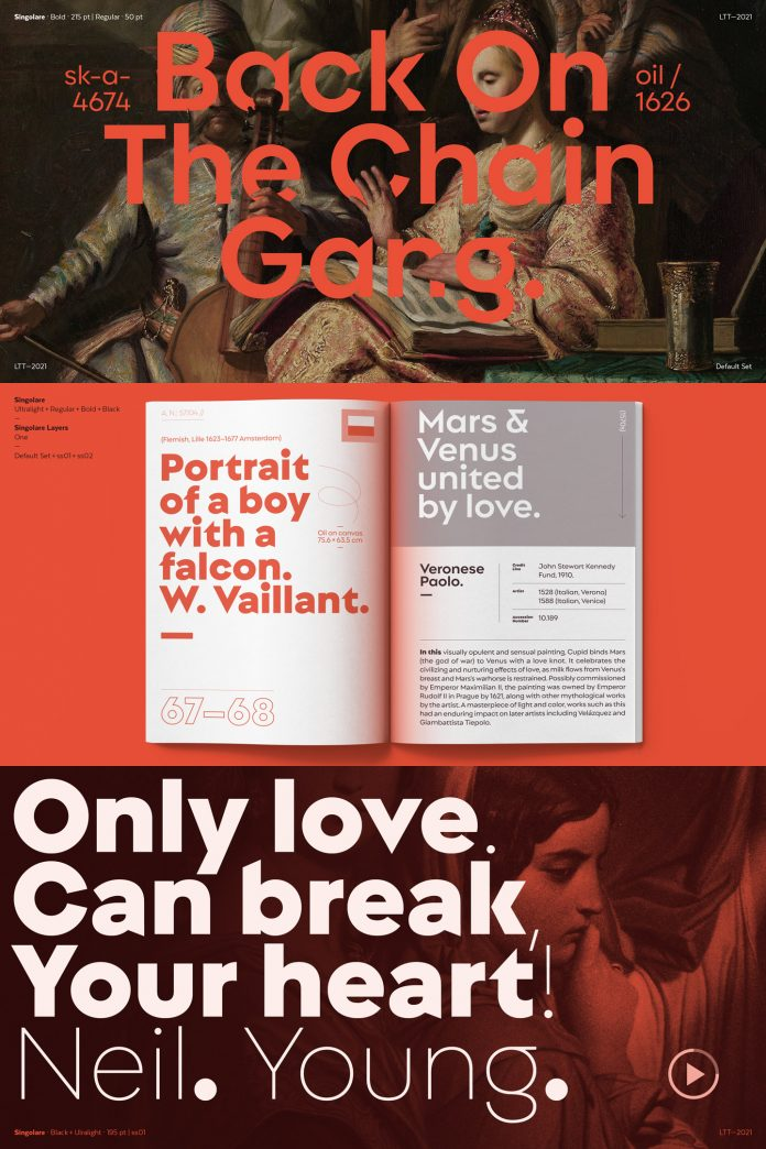 Singolare font family by Latinotype