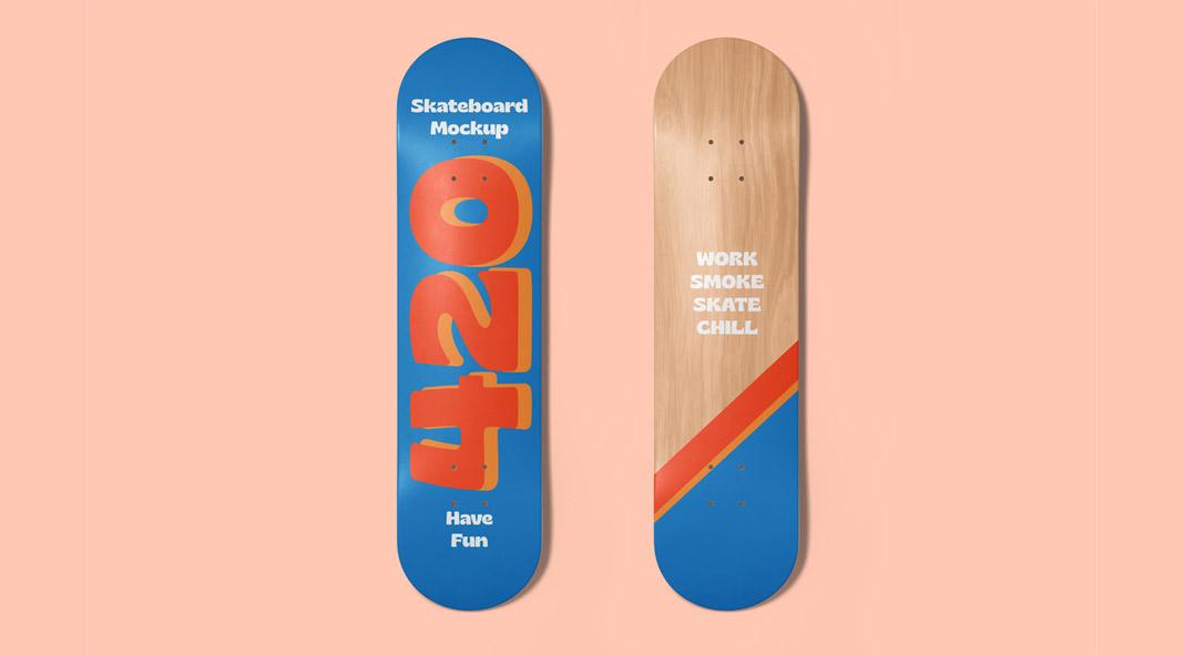 Skateboard Decks Mockup for Adobe Photoshop