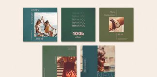 Social Media Post and Story Templates for Adobe Photoshop.