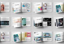 Square Graphic Design Portfolio InDesign Template by GrkiCreative.