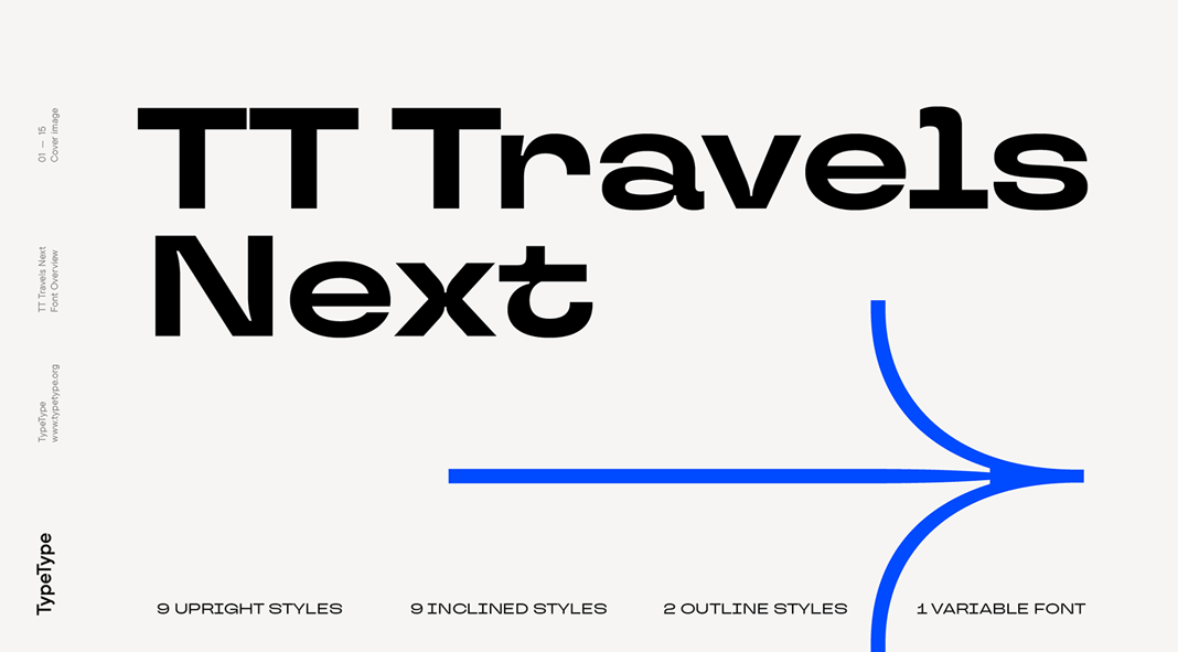TT Travels Next font family by TypeType