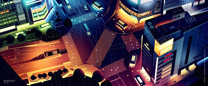Tokyo Mirages illustration series by Romain Trystram