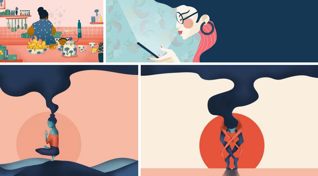 Download vector illustrations by Natalia Maca.