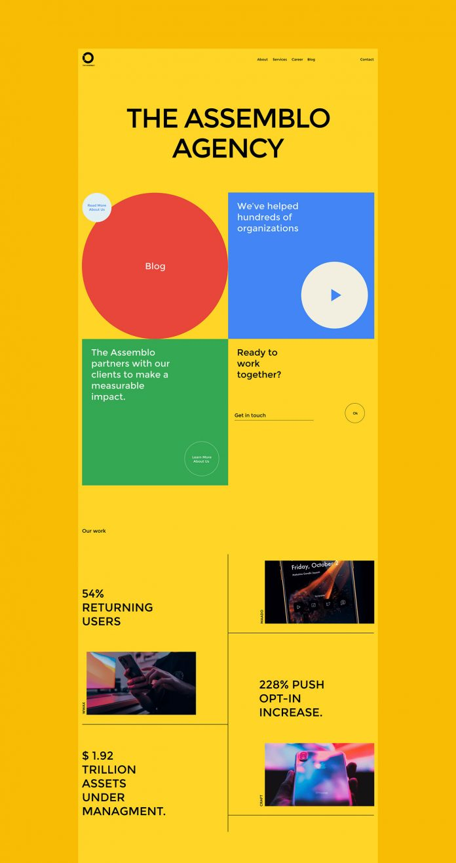 Assemblo agency branding by Viktoryia V