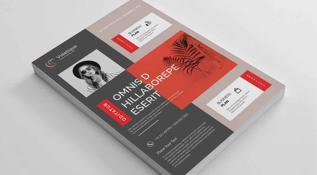 A4 flyer template by PixWork