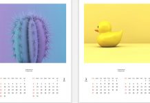 Beautiful and Simple 2022 Calendar Template for Adobe InDesign