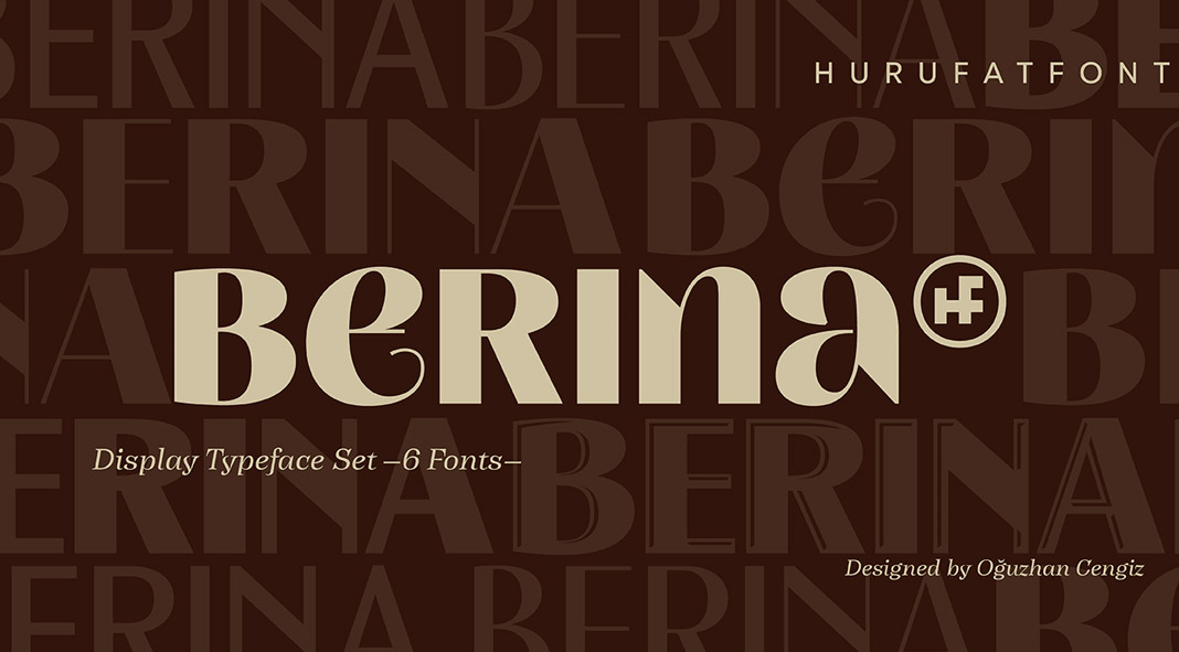 Berina font family by Hurufatfont