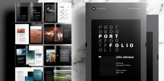 Black Photography Portfolio Template by sirisako