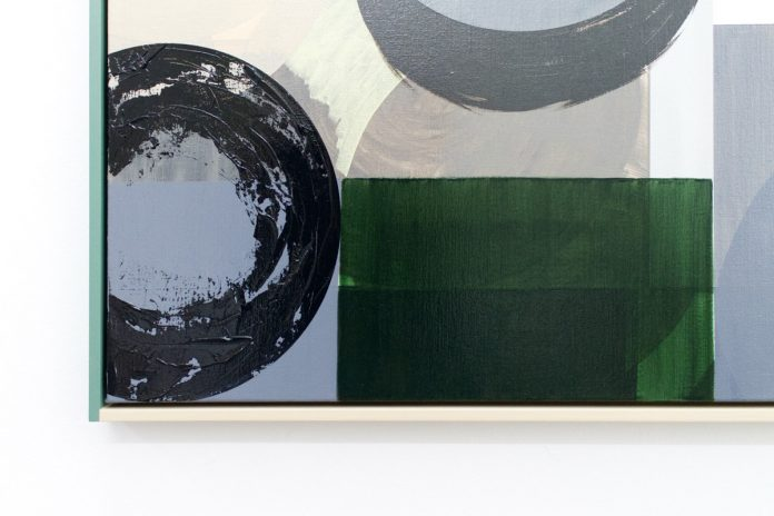 Geometric contemporary painting by artist Daan Roukens.