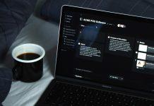 Dark UI Web Design