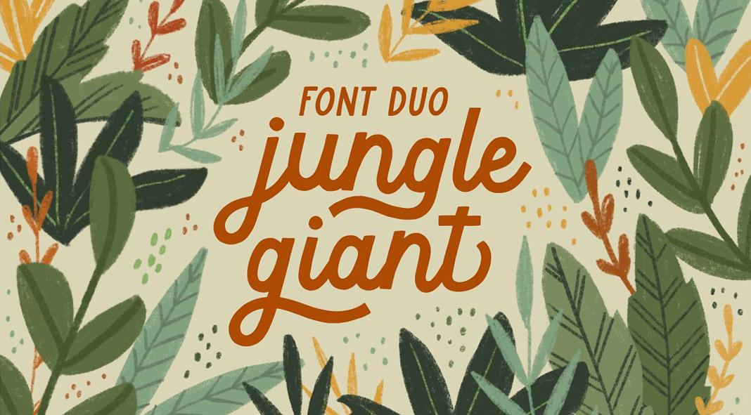 Jungle Giant Font Duo
