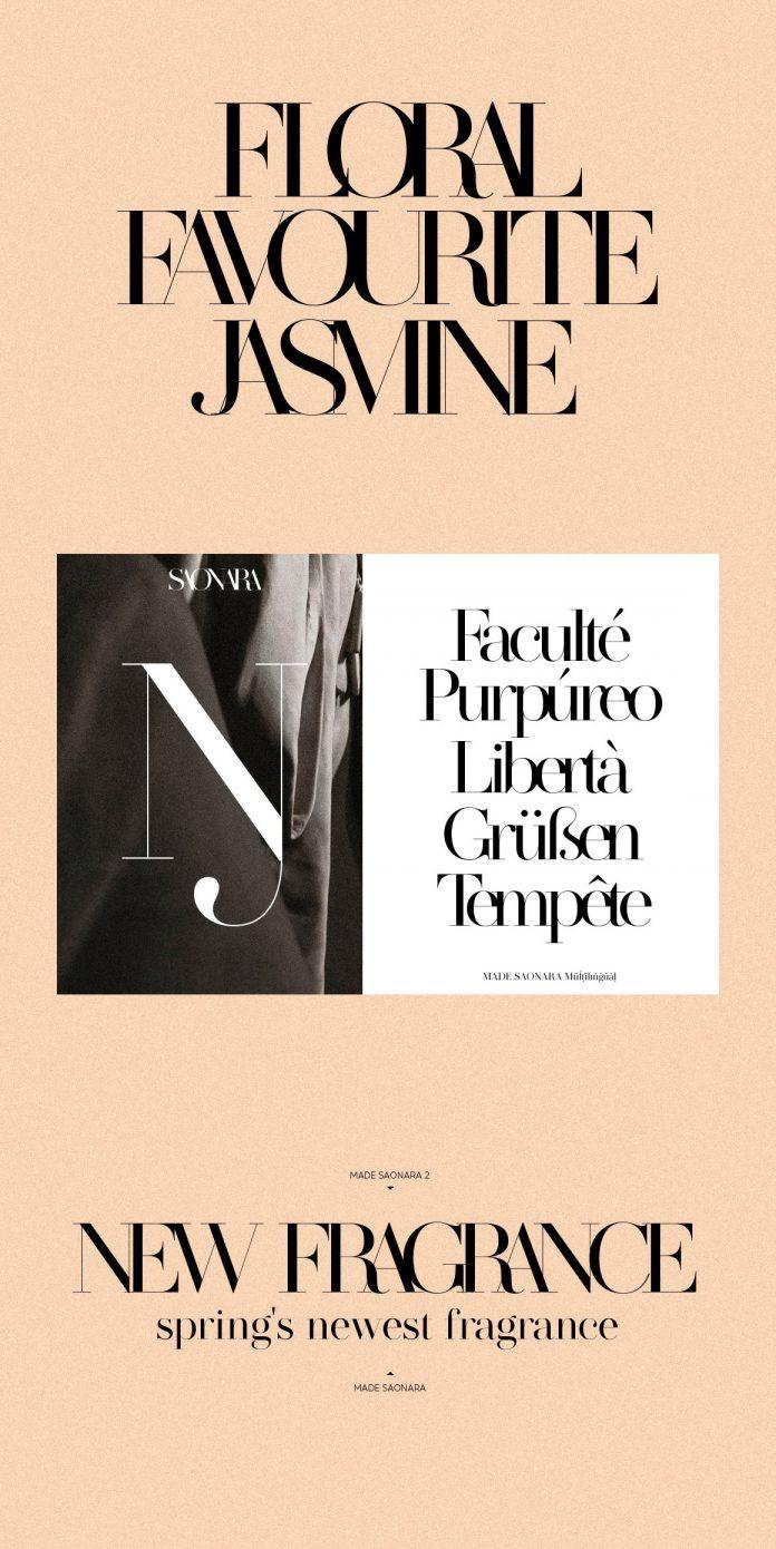 MADE SAONARA, a display serif font by MadeType.