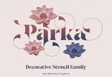 Parka font family by creativemedialab
