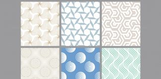 Pastel-Colored Geometric Seamless Pattern Backgrounds