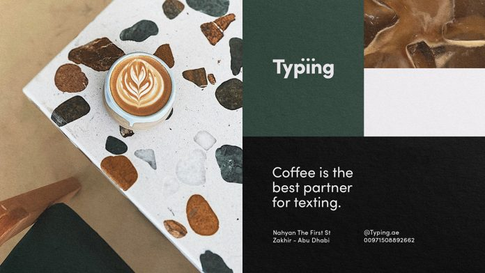 Typing brand identity by Guilherme Vissotto