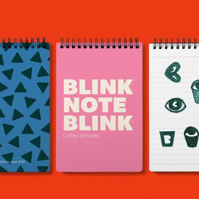 Blink Coffee branding by Ana Miminoshvili
