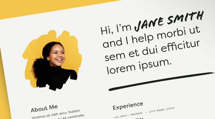 Adobe InDesign Resume Template with Photo Placeholder