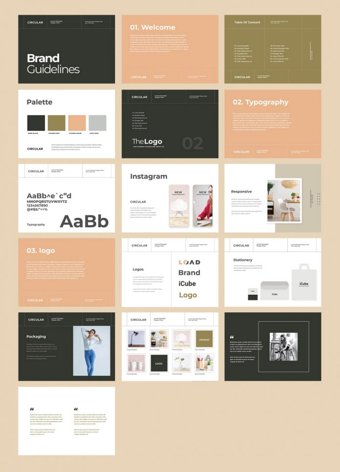 Brand Guidelines Identity Brochure Template for Adobe InDesign