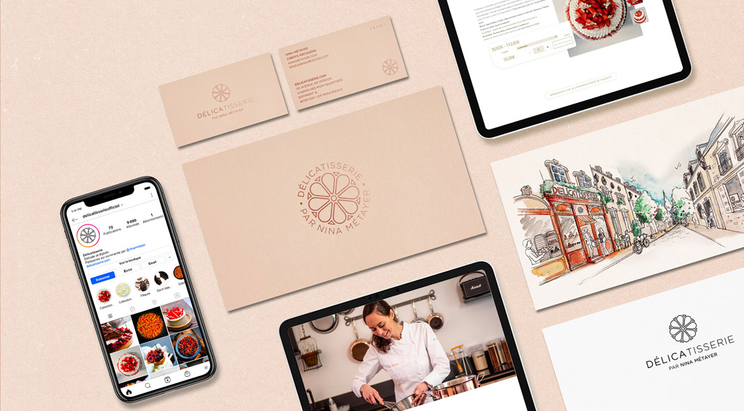 Creative studio TDF produces visual identity for Nina Métayer's first pastry in Paris.