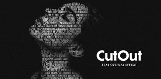 Cut Out Text Portrait Photo Effect Mockup for Adobe Photoshop