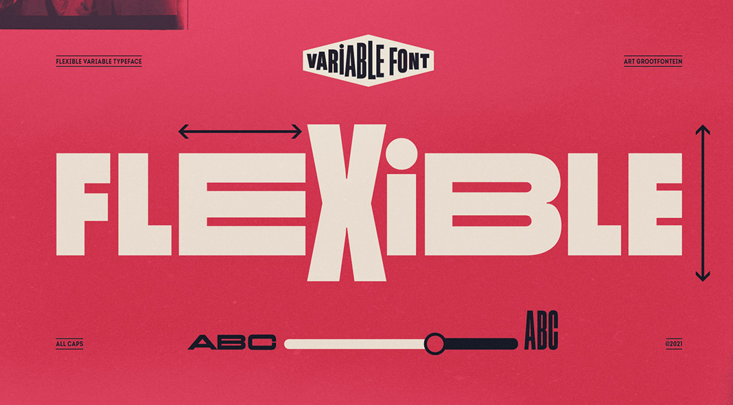 Flexible Variable font family by Art Grootfontein
